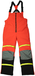 #R35BP Reflective Hi-Vis Orange Softshell Freezer Bib-Pant