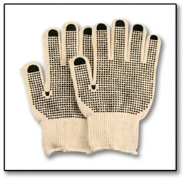 #807-808 Heavywt Knit Gloves PVC Dots (Dozen)